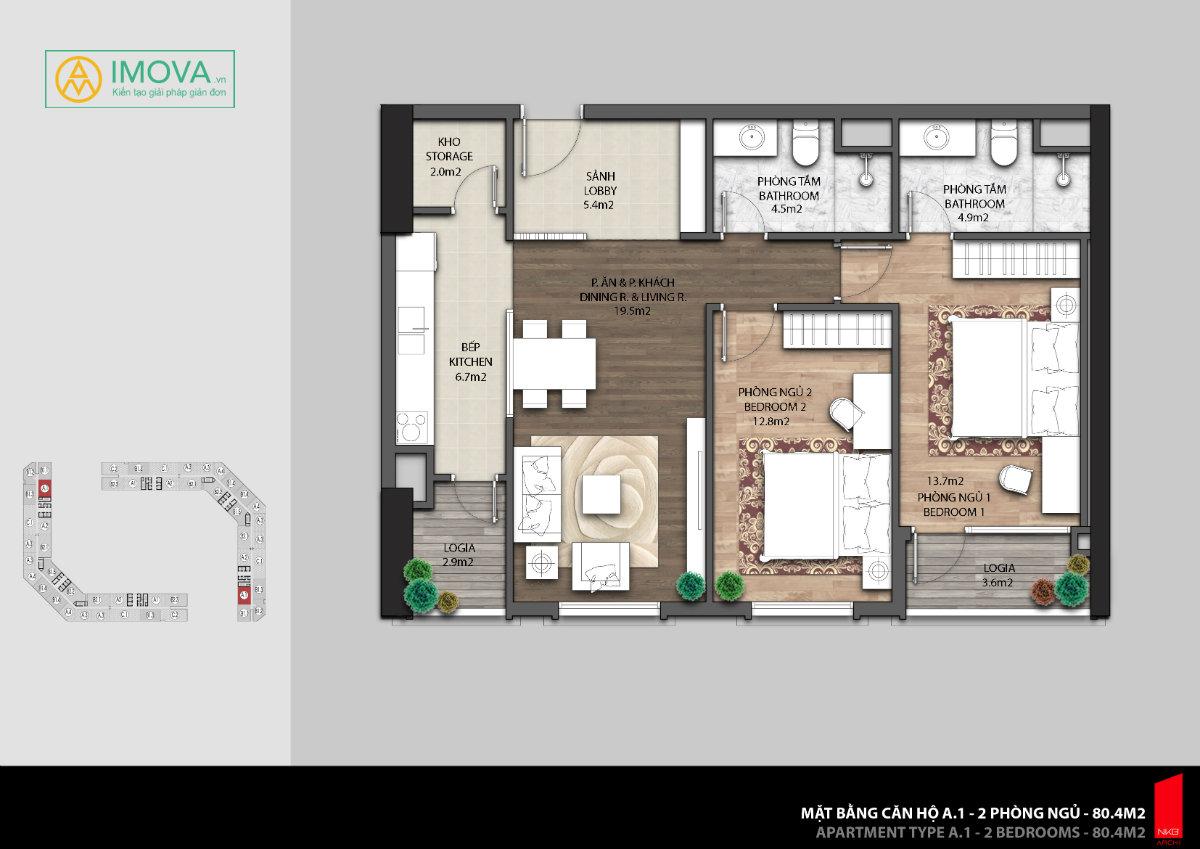 thiết kế căn hộ đĩnh cao
