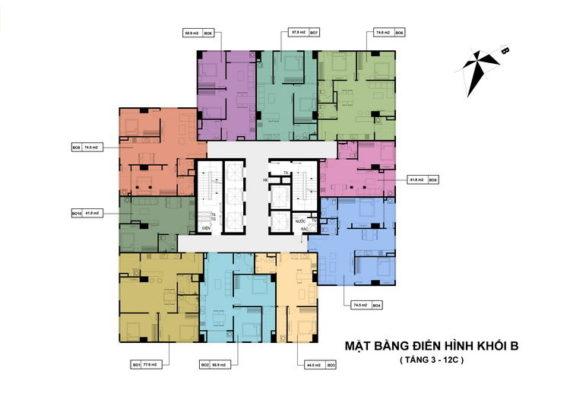 thiết kế chung cư Hong Kong Đê La Thanh