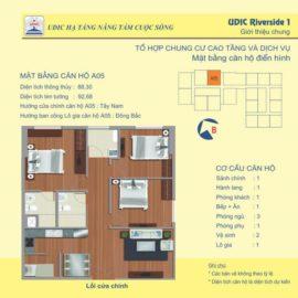 Thiết kế căn A5 chung cư 122 Vĩnh Tuy