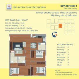 Thiết kế căn A6 chung cư 122 Vĩnh Tuy