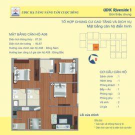 Thiết kế căn A8 chung cư 122 Vĩnh Tuy