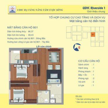 Thiết kế căn B1 chung cư 122 Vĩnh Tuy
