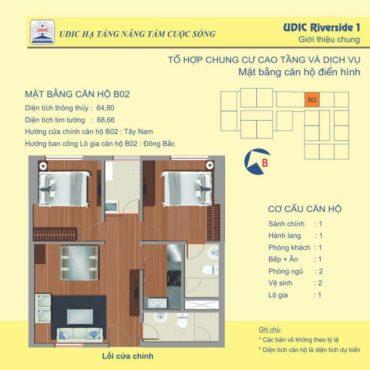Thiết kế căn B2 chung cư 122 Vĩnh Tuy