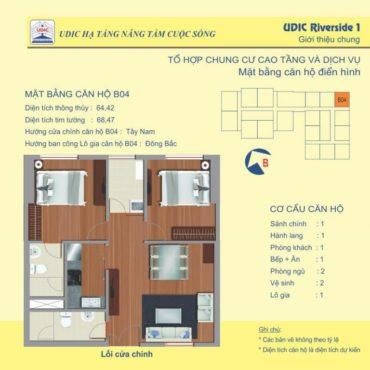 Thiết kế căn B4 chung cư 122 Vĩnh Tuy