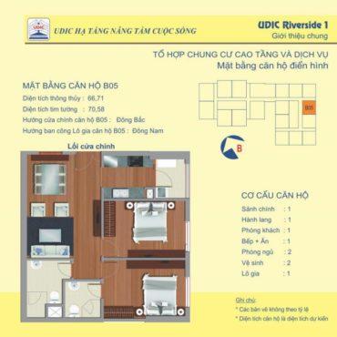 Thiết kế căn B5 chung cư 122 Vĩnh Tuy