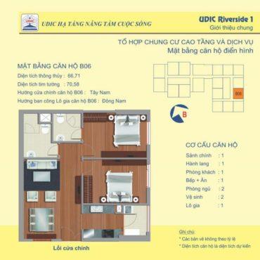 Thiết kế căn B6 chung cư 122 Vĩnh Tuy