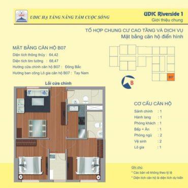 Thiết kế căn B7 chung cư 122 Vĩnh Tuy