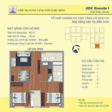 Thiết kế căn B8 chung cư 122 Vĩnh Tuy