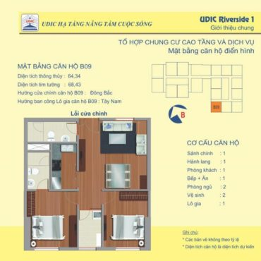 Thiết kế căn B9 chung cư 122 Vĩnh Tuy
