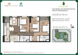 căn 3 ngủ chung cư The Emerald Ct8 mỹ đình