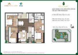 căn 3 ngủ dự án chung cư The Emerald