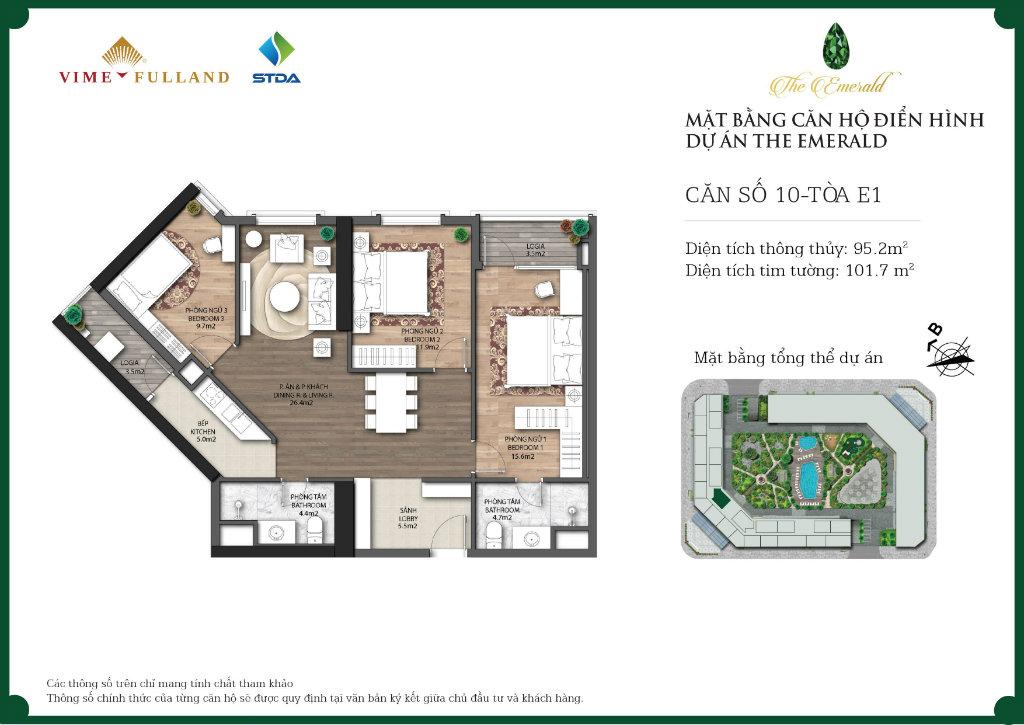 căn 3 ngủ chung cư CT8 ĐÌnh Thôn