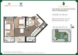 căn 3 ngủ chung cư Ct8 mỹ đình emerald