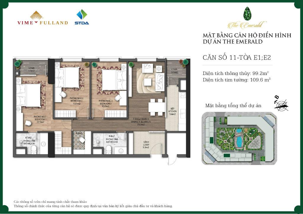 Phân tích căn 3 ngủ chung cư The Emerald Mỹ Đình