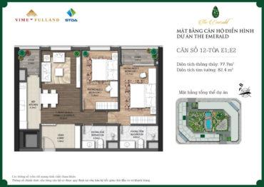 căn 2 ngủ chung cư Ct8 mỹ đình diện tích 77m2