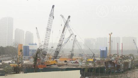 tiến độ xây dựng Vinhomes Green Bay