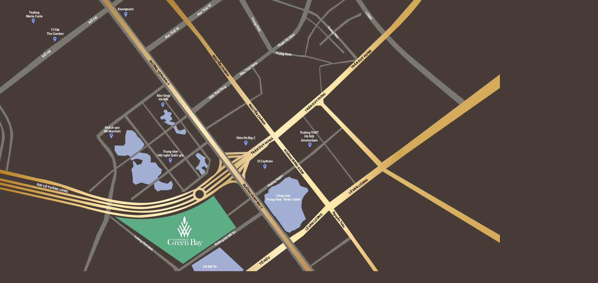 vị trí của dự án Vinhomes Green Bay