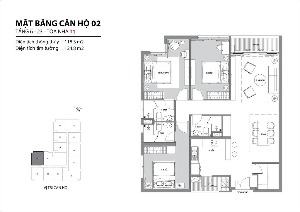 Thiết kế căn hộ sun group quảng an căn 02
