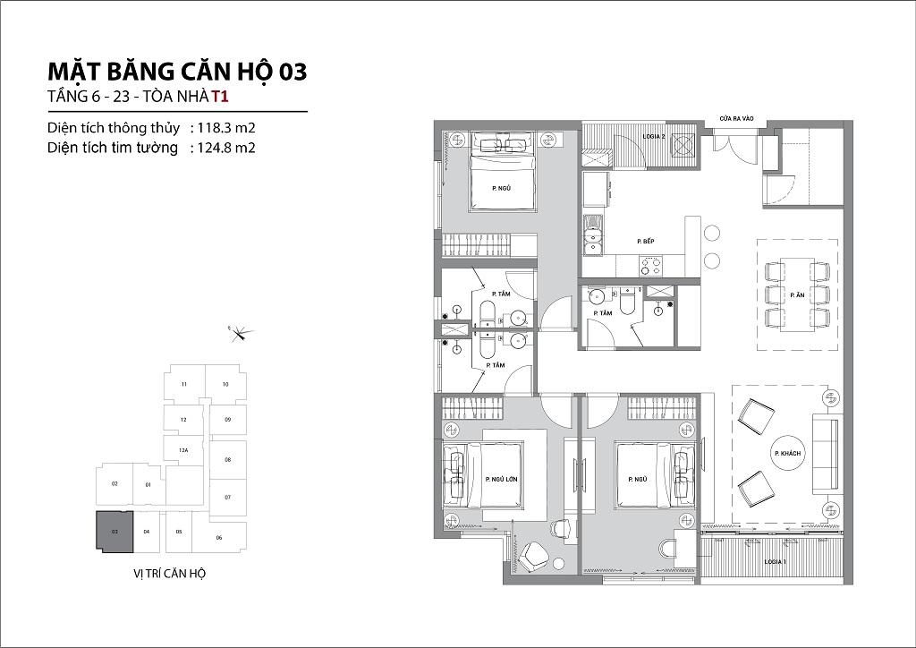 Thiết kế căn hộ sun group quảng an căn 03