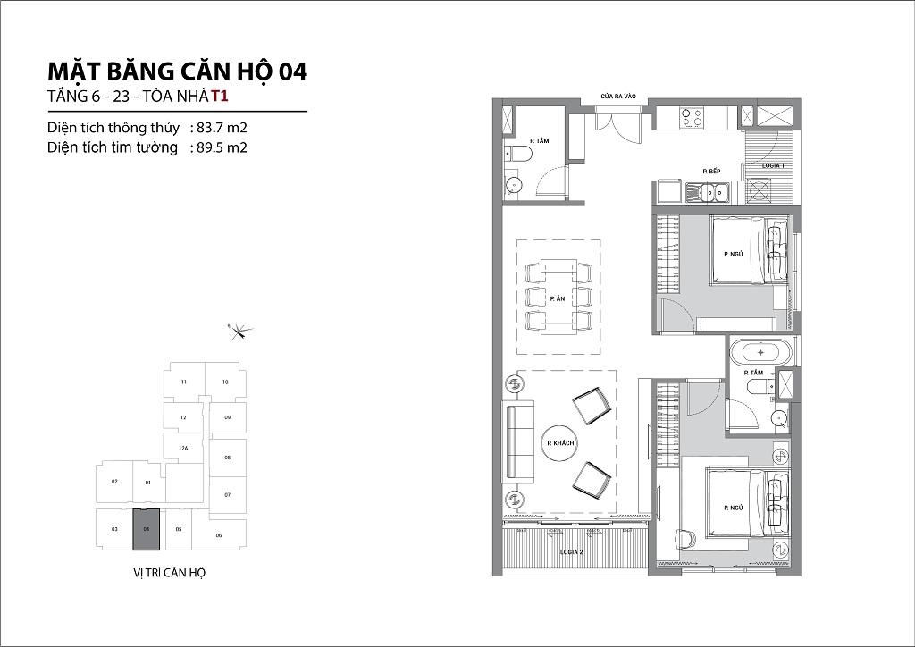Thiết kế căn hộ sun group quảng an căn 04