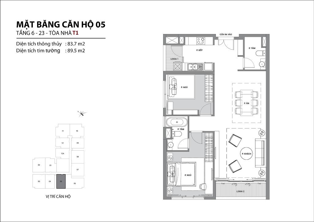 Thiết kế căn hộ sun group quảng an căn 05