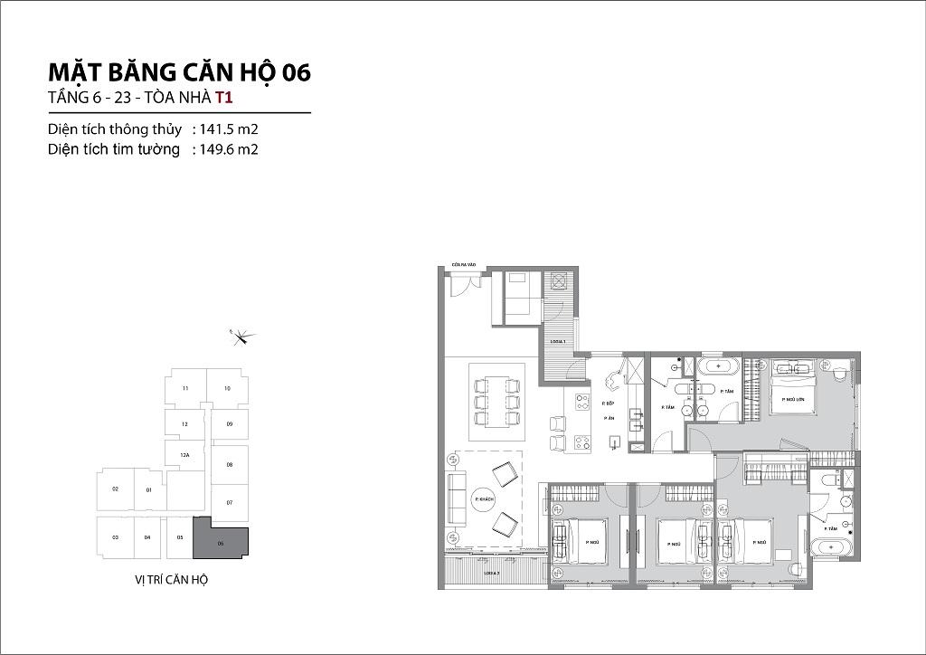 Thiết kế căn hộ sun group quảng an căn 06