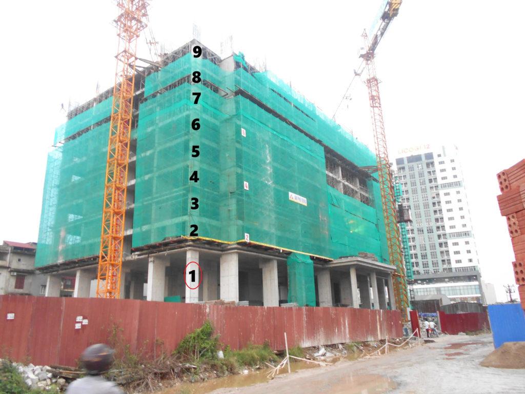 Tòa HH3 xây đến tấng 9
