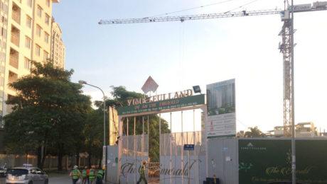 tiến độ dự án the emerald