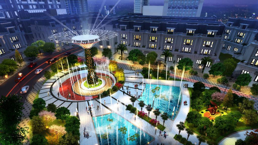 nội khu dự án sunshine city