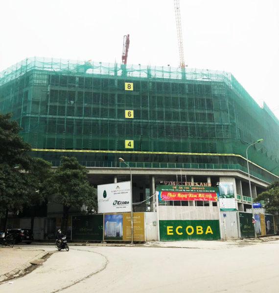 tiến độ the emerald tháng 03/2018