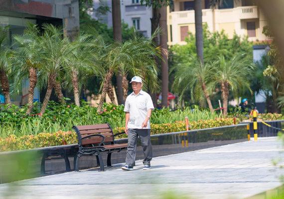 đường dạo bộ khuôn viên HD Mon