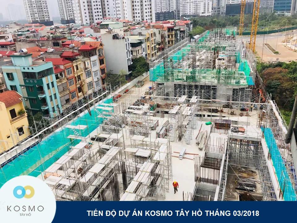tiến độ dưn án Kosmo Tây Hồ mới nhất tháng 4/2018