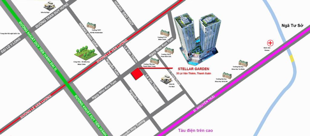 Vị trí chung cư Stellar Palace
