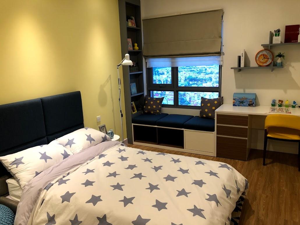 nhà mẫu chung cư Kosmo căn 3 ngủ phòng ngủ trẻ em