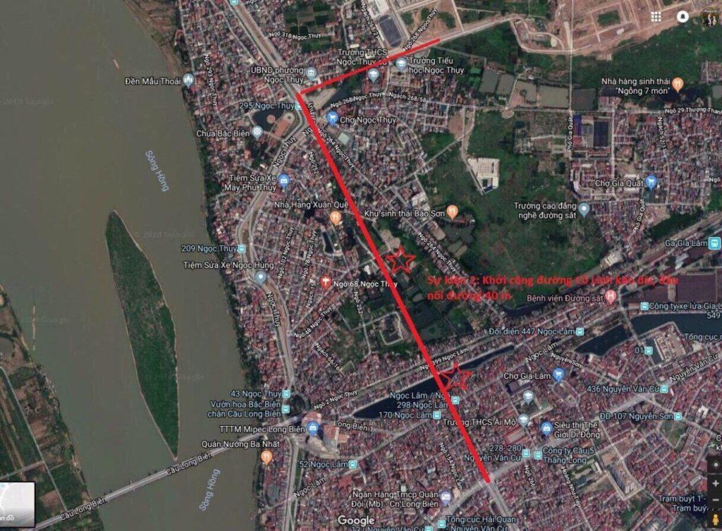 đường Cổ Linh Nguyên Văn Cừ tuyến đường 40m