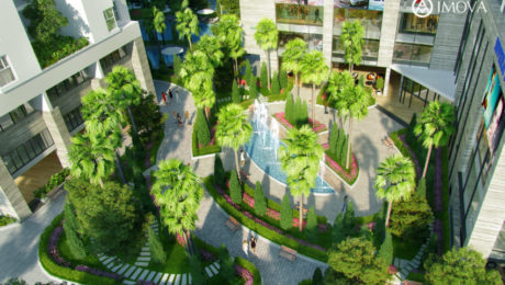 Không gian cảnh quan xanh tại dự án Rivera Park Vũ Trọng Phụng