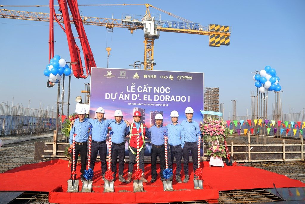 Cất nóc dự án D'. El Dorado I Phú Thượng