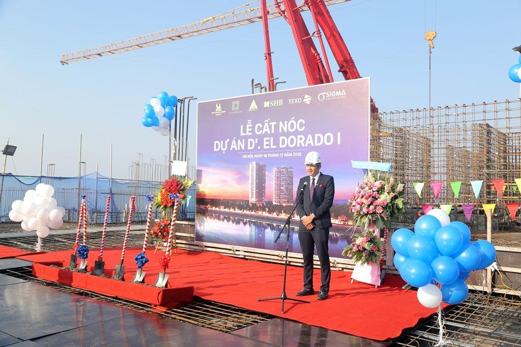 Lễ Cất nóc dự án D'. El Dorado I Phú Thượng