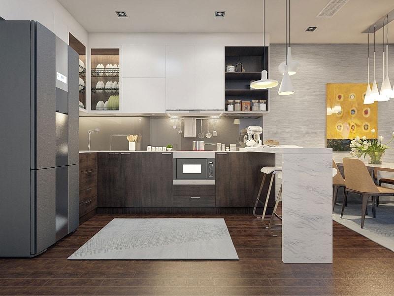 phòng bếp chung cư komo tây hồ