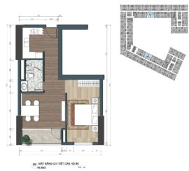 thiết kế officetel the lotus center căn B5