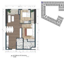 thiết kế officetel the lotus center căn B6