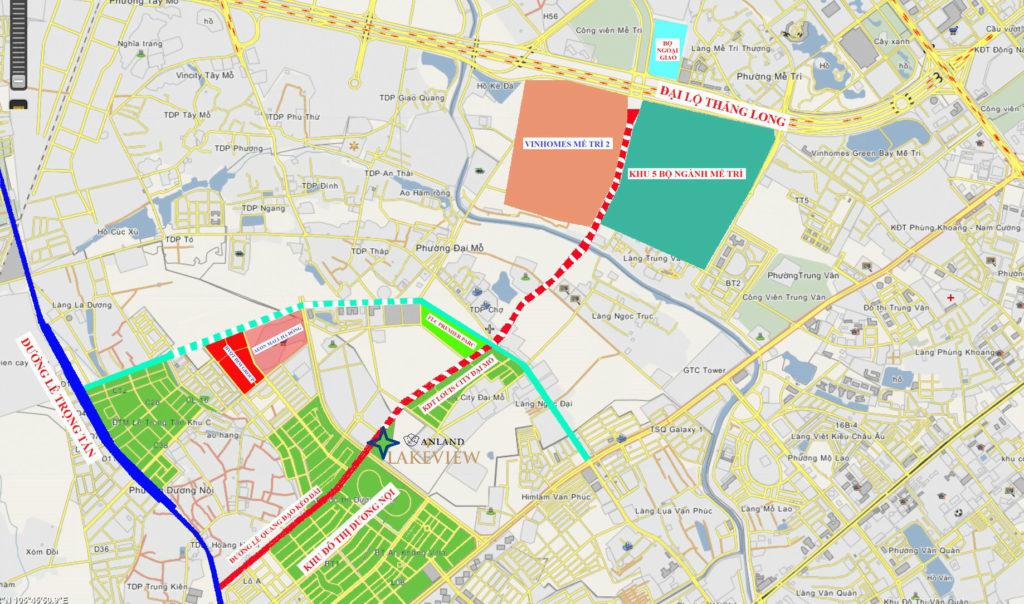 Quy hoạch Anland Lake View Tuyến đường Lê Quang Đạo 40m